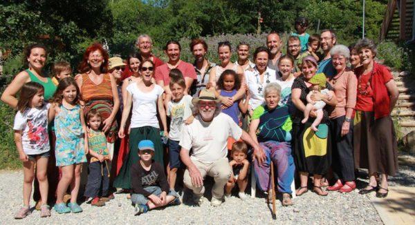 les habitants de l'habitat participatif Ecoravie
